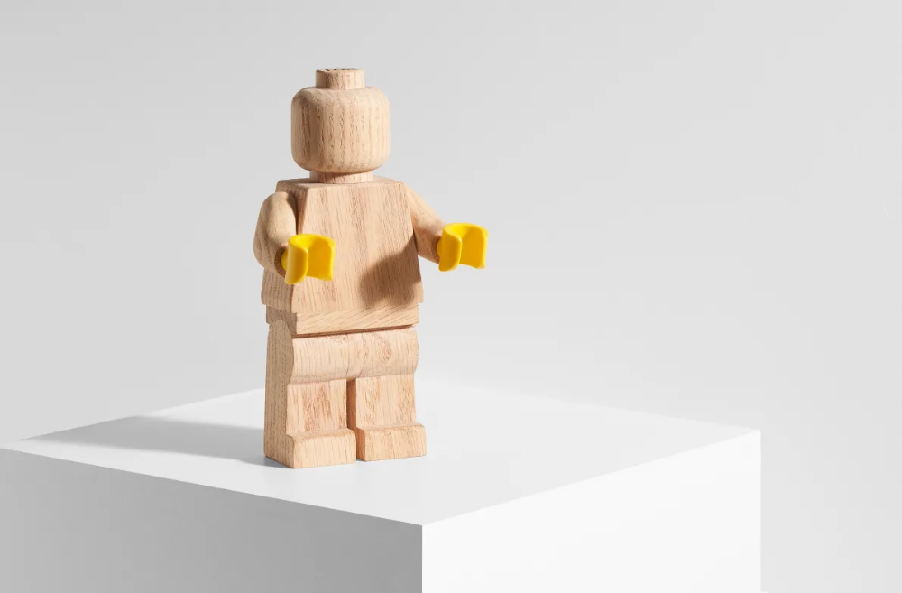 LEGO Launched an Oversized Wooden Minifigure and People are Turning it Into Works of Art