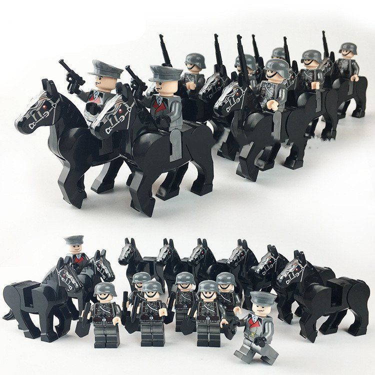 World War II German 8th SS Cavalry Division minifigures Lego Compatible Toys