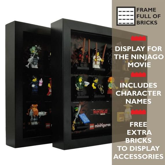LEGO Minifigures Display Case / Frame – The NINJAGO Movie (2 Frames)