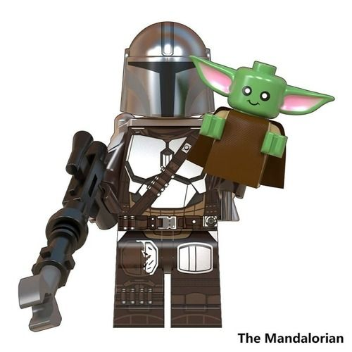 The Mandalorian and Baby Yoda Star Wars Custom Minifigs Fit Lego W916A