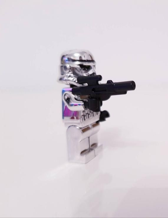 Lego inspired Limited  edition silver plastic Stormtroopers Minifigures set