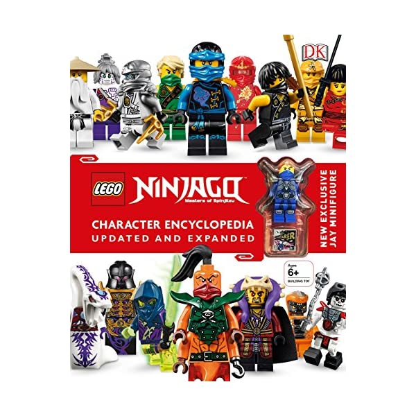 LEGO NINJAGO Character Encyclopedia, Updated Edition: New Exclusive Jay Minifigure – Best Sellin Books