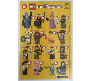 LEGO Series 12 Minifigure – Random Bag Set 71007-0 Instructions