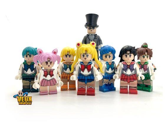 Sailor Moon Anime Theme Custom Minifigure Set