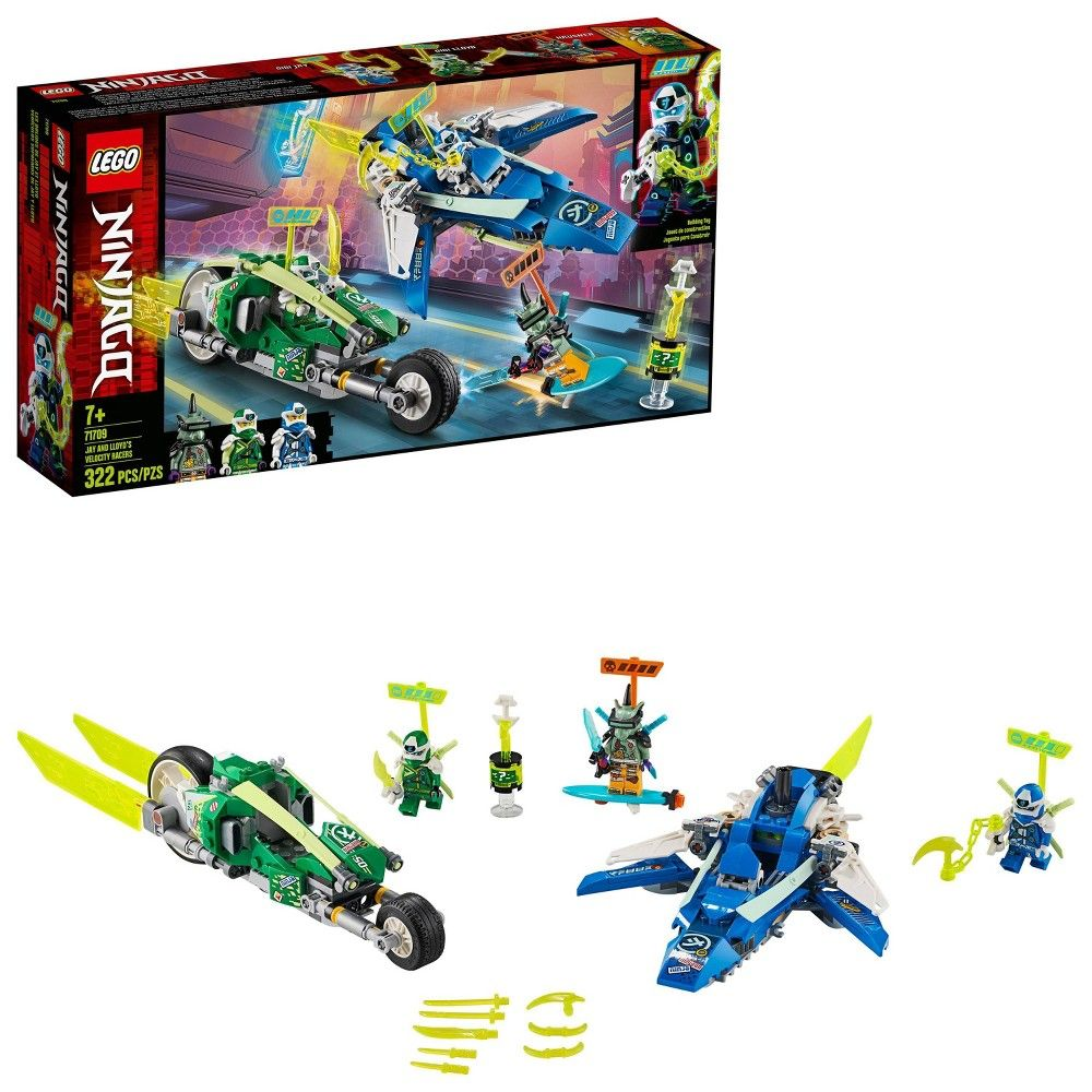 LEGO NINJAGO Jay and Lloyd's Velocity Racers 71709 Ninja Building Kit