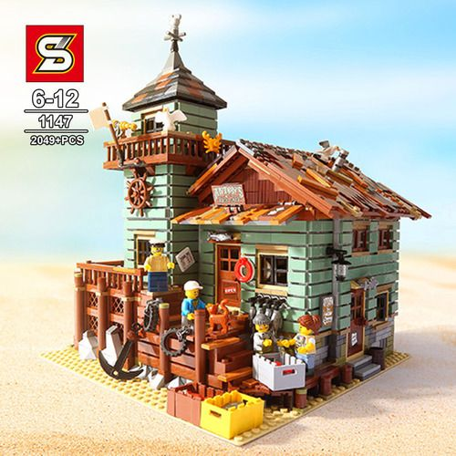 IDEAS Old Fishing Store Bricks Set NO BOX SY1147