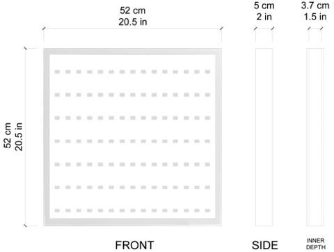 Black Edition Black Display Frame for 105 Lego Minifigures