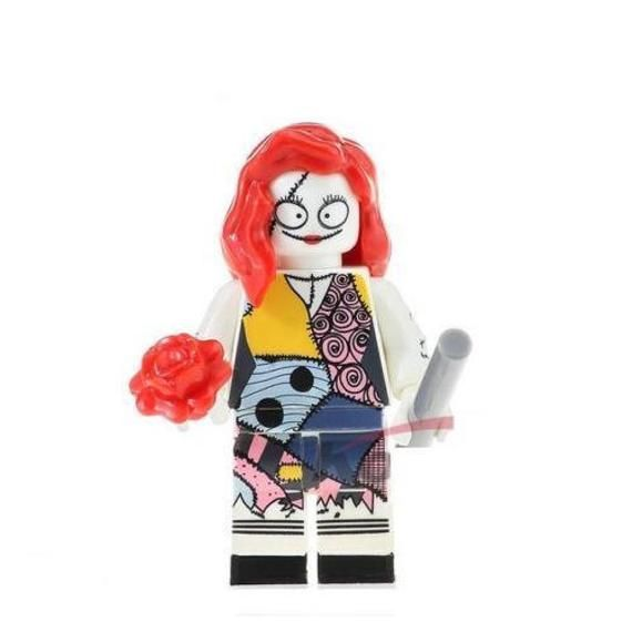 Sally Custom Minifigure fits LEGO with flowers from The Nightmare Before Christmas