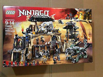 Ad – New Sealed Retired LEGO NINJAGO 70655 Masters of Spinjitzu:Dragon Pit Set 1…