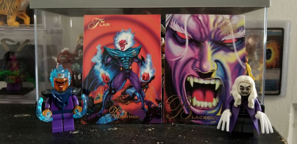 custom minifigures  Ghost Rider villains   Zarathos  &  Blackout