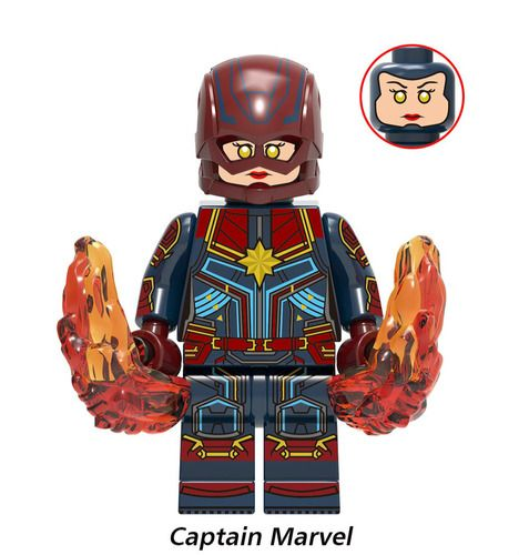Captain Marvel Custom Marvel DC Super Heroes Minifigures Minifigs Fit Lego X1150