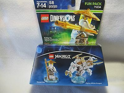 Ad – Lego Dimensions Ninjago Flying White Dragon Fun Pack 71234 NEW
