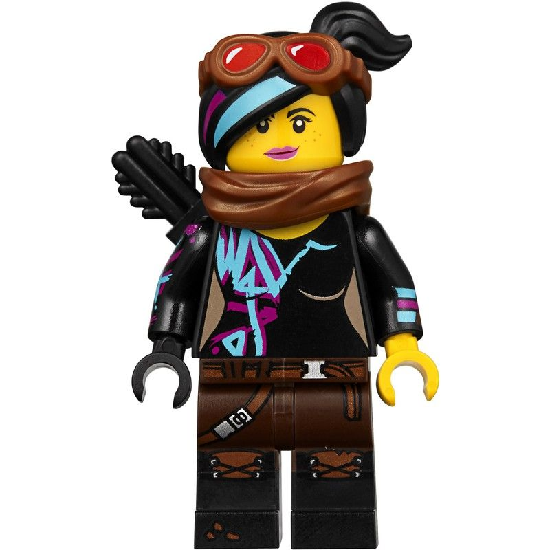 lego minifig Lucy Wyldstyle Goggles, Scarf, Quiver