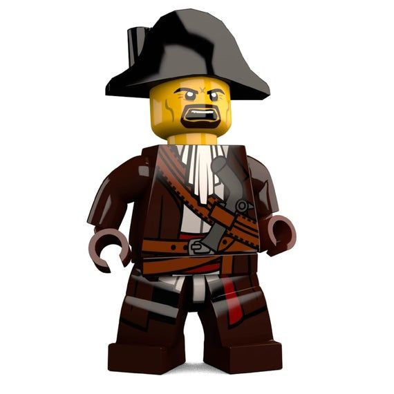 Pirate James Brickster Custom LEGO Minifigure LIMITED EDITION