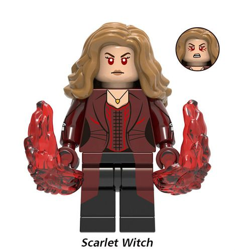 Scarlet Witch Endgame Avengers Custom Marvel DC Super Heroes Minifigs Minifigures Fit Lego X1154