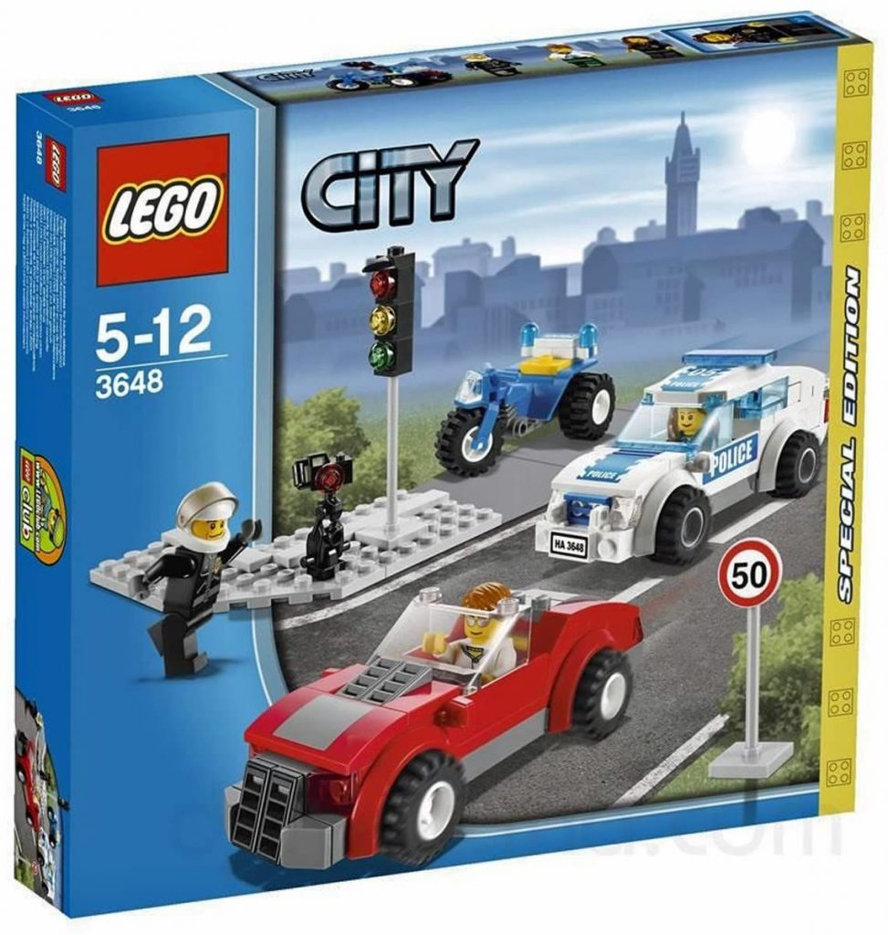 Lego 3648 Police Chase Special Edition 2011 City Series 173Pc Set Includes 3..