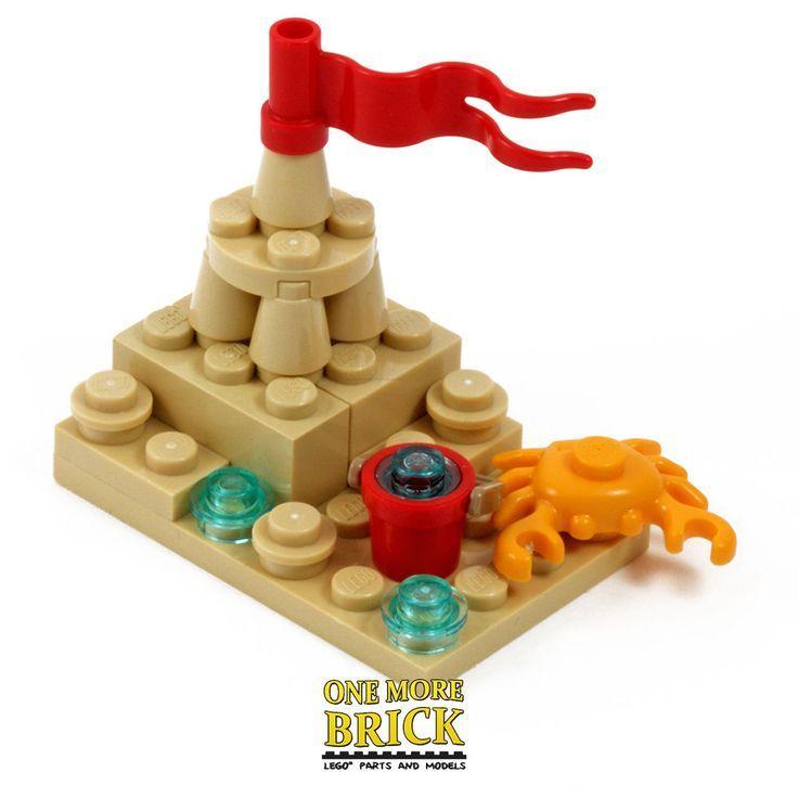LEGO Beach Sandcastle – mit Eimer, Flagge und Legokrabbe! | Ebay