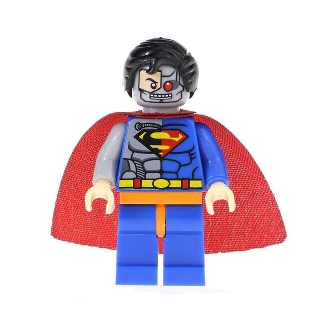 Cyborg Superman Lego Minifigures Compatible Super Heroes series