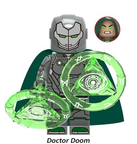 Doctor Doom Custom Marvel SuperHeroes Minifigures Minifigs Fit Lego X1374