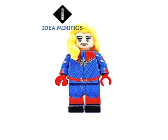 Captain Marvel Custom Lego Patriot Edition