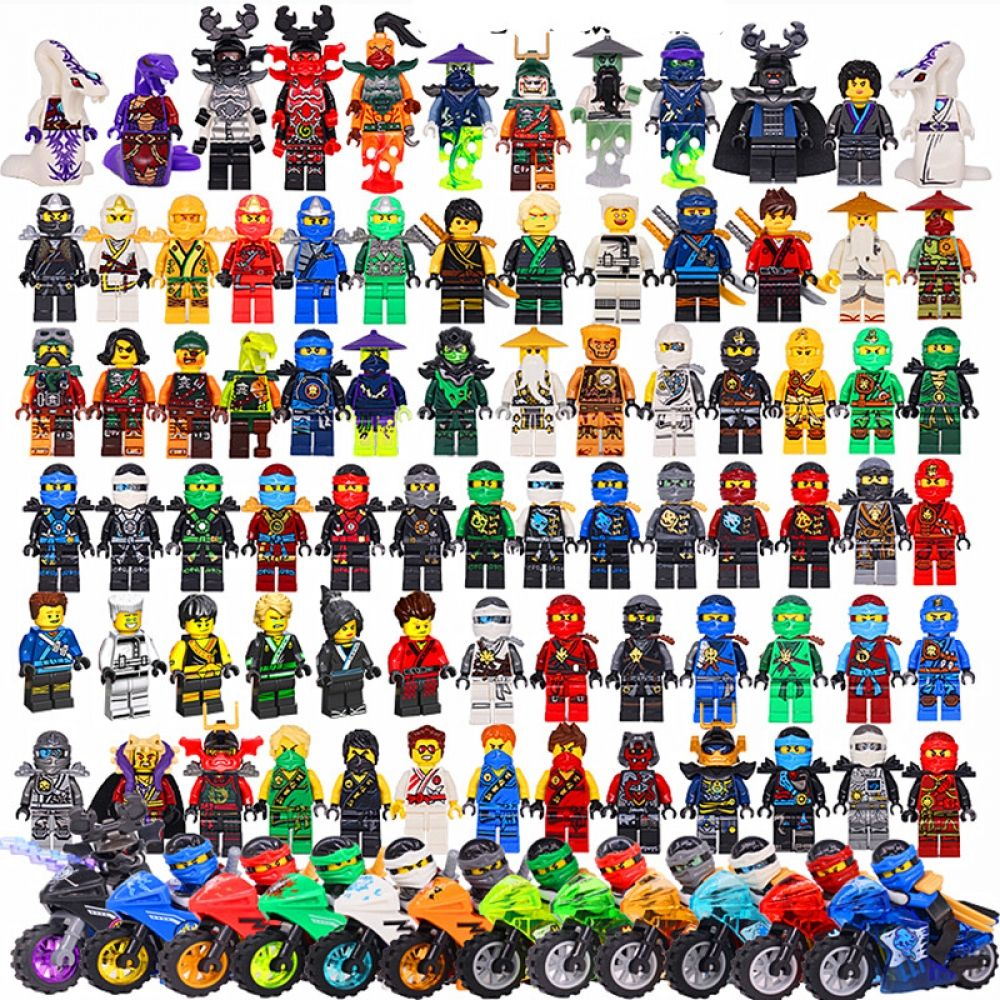 Compatible LegoINGlys NinjagoING Sets NINJA Heroes Kai Jay Cole Zane Nya Lloyd With Weapons Action Toys for children
