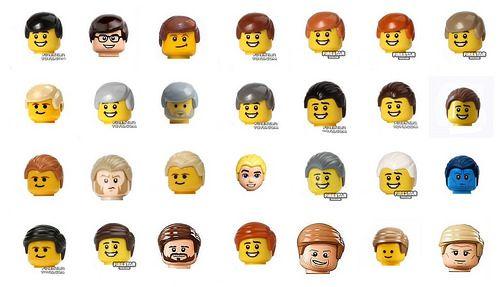 Lego hair pieces