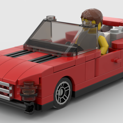 Red Sports Car in Minifigure Scale