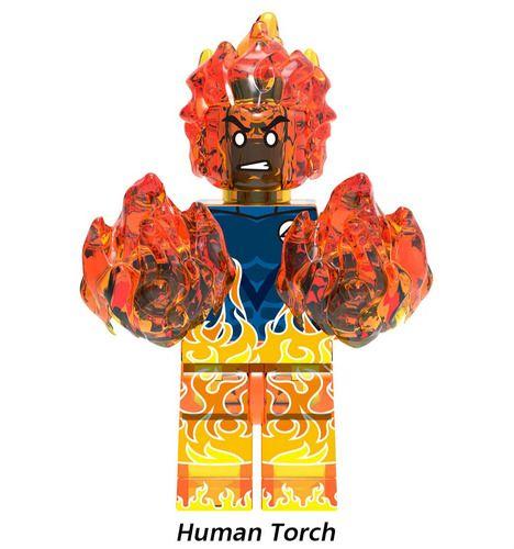 Human Torch fantastic Super Heroes Custom Minifigs