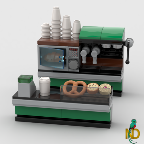 Details about Lego Coffee Shop – Cafe & Bakery Food Store – Minifigure Custom Interior Model