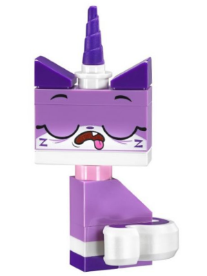 Minifig coluni10 : Lego Sleepy Unikitty – Character Only Entry, no stand [Collectible Minifigures:Unikitty!] – BrickLink Reference Catalog