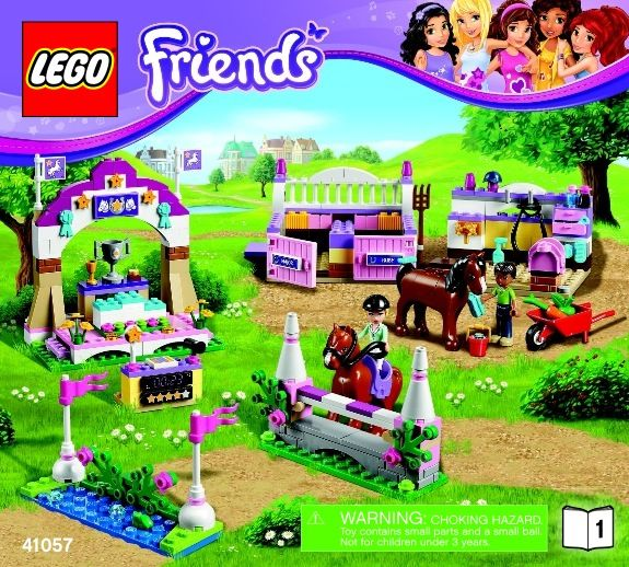 LEGO 41057 Heartlake Horse Show Instructions, Friends