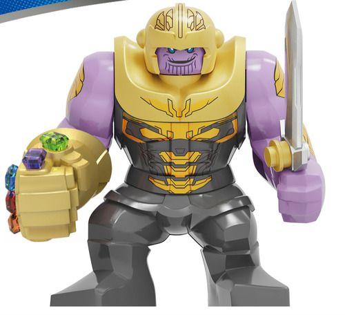 Thanos with Gauntlet Glove Infinity War Custom Marvel SuperHeroes Minifigures Minifigs fit Lego KF1129B
