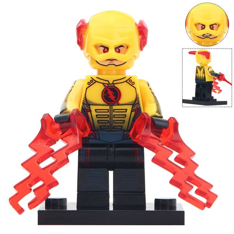 Minifigure Reverse Flash in Helmet DC Comics Super Heroes Compatible Lego Building Blocks Toy…