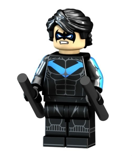 01 Big Bricks Custom Nightwing Mavrel DC SuperHeroes Minifigures Toy Mini figure Fit Lego Blocks PG1505