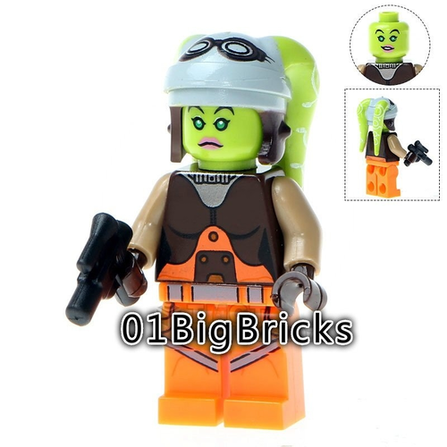 01 Big Bricks Custom Hera Star Wars Mavrel DC SuperHeroes Minifigures Toy Mini figure Fit Lego Blocks PG731