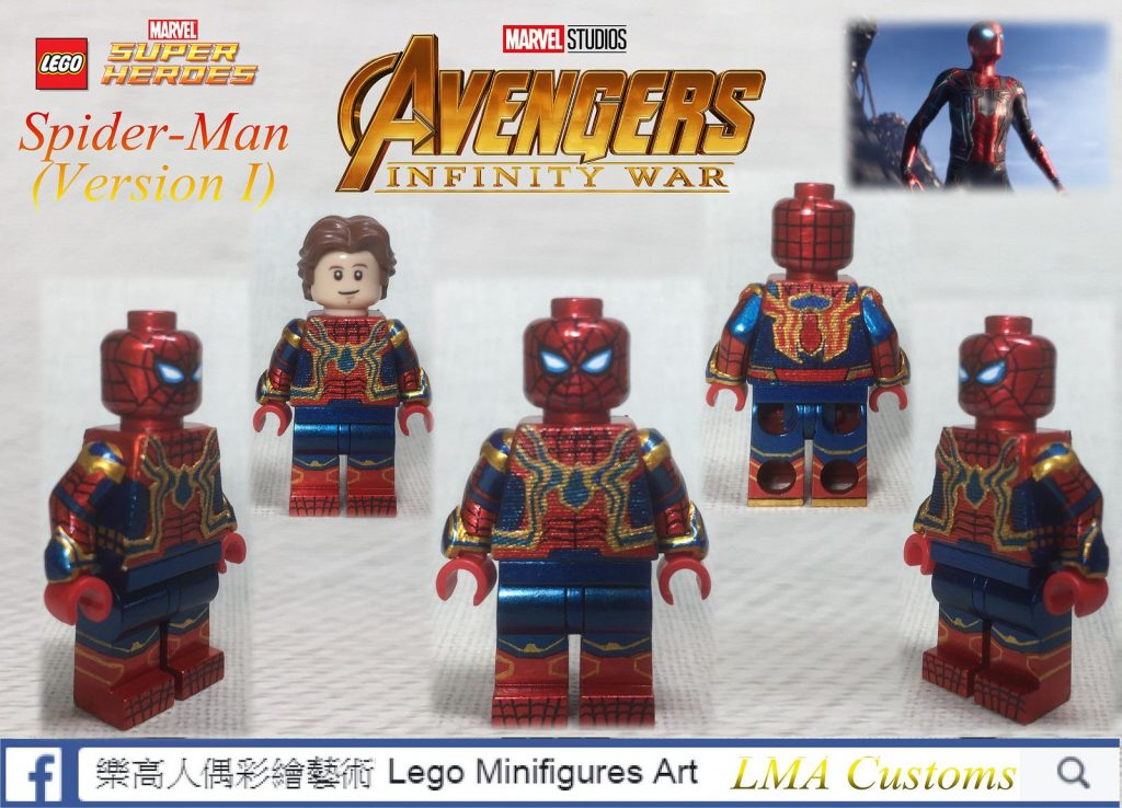 MOC Lego Avengers 3: Infinity War -Iron Spiderman(Version 1)
