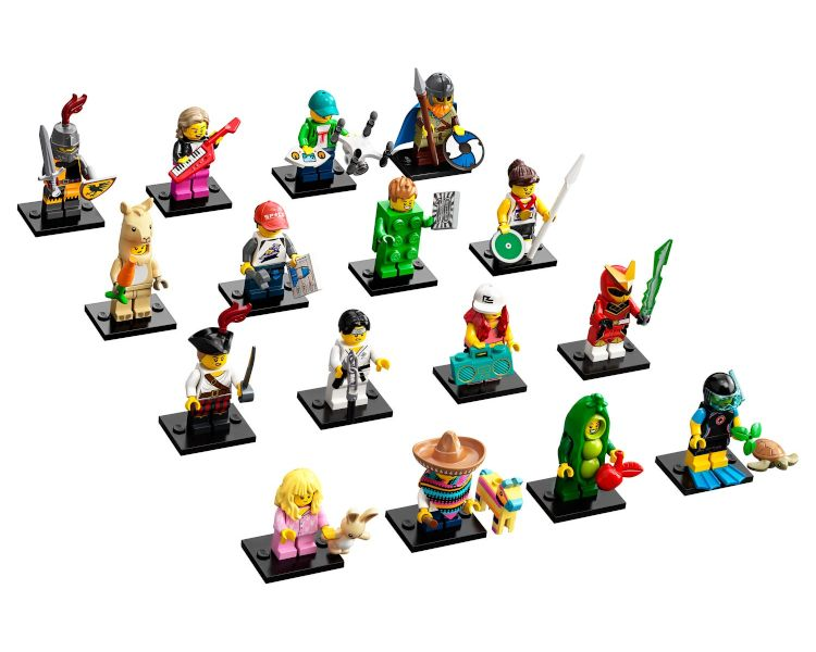 LEGO Minifigures Display: Sfondi Serie 20 Classic