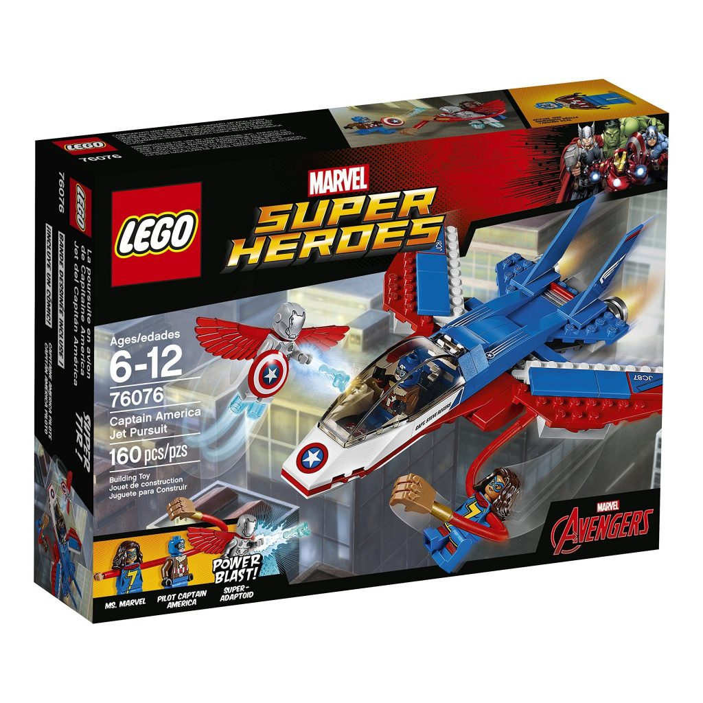 LEGO Super Heroes Captain America Jet Pursuit 76076 Building Kit (160 Pieces) – Default Title