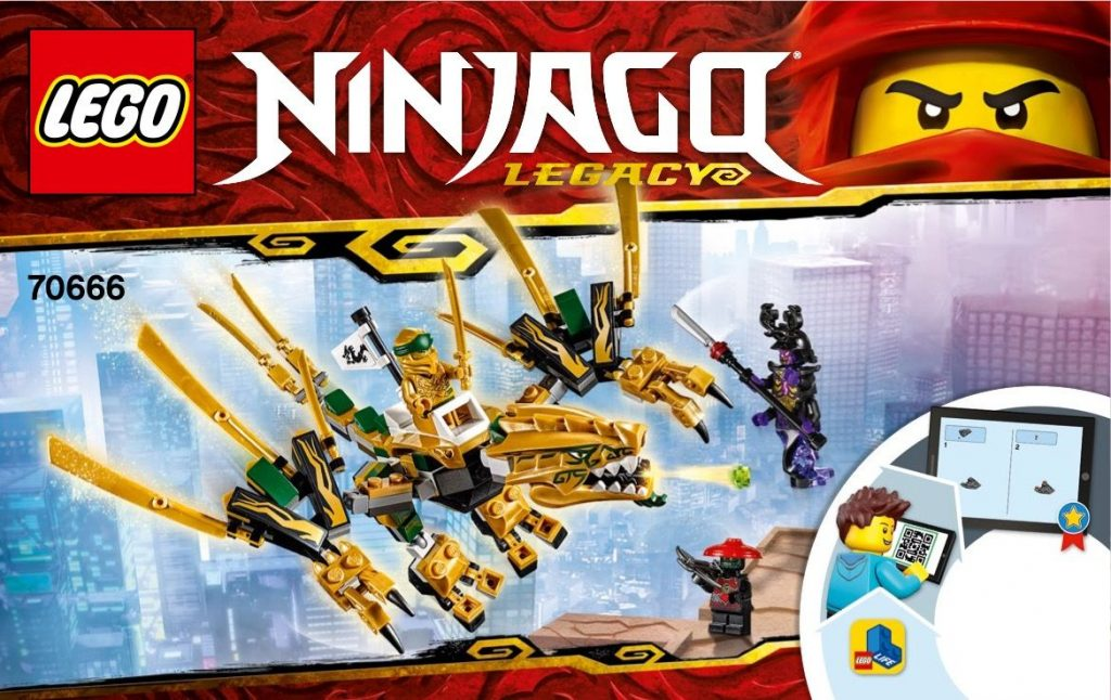 LEGO 70666 The Golden Dragon Instructions, Ninjago