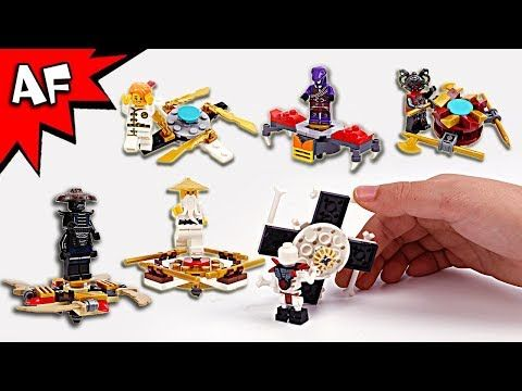 Lego Ninjago Brick Building FIDGET SPINNERS with Sensei, Garmadon & Villian Minifigures