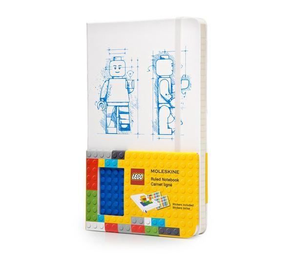 LEGO Moleskine – Limited Edition Notebook – Larget – Ruled – White