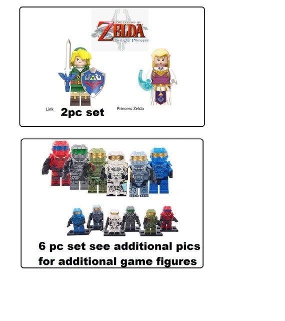 Street Fighter minifigures video games edition Ken Ryu Honda over Zelda Princess  choose from birthd