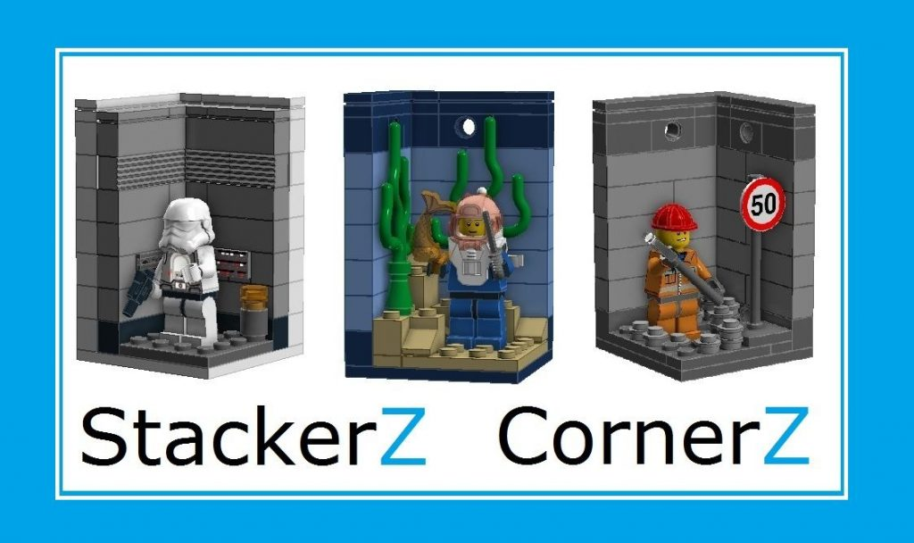 StackerZ – Stackable minifigure display cases.