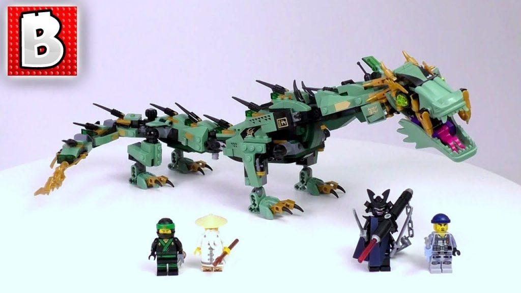 LEGO Ninjago Movie Green Ninja Mech Dragon Set 70612 | Unbox Build Time Lapse Re…