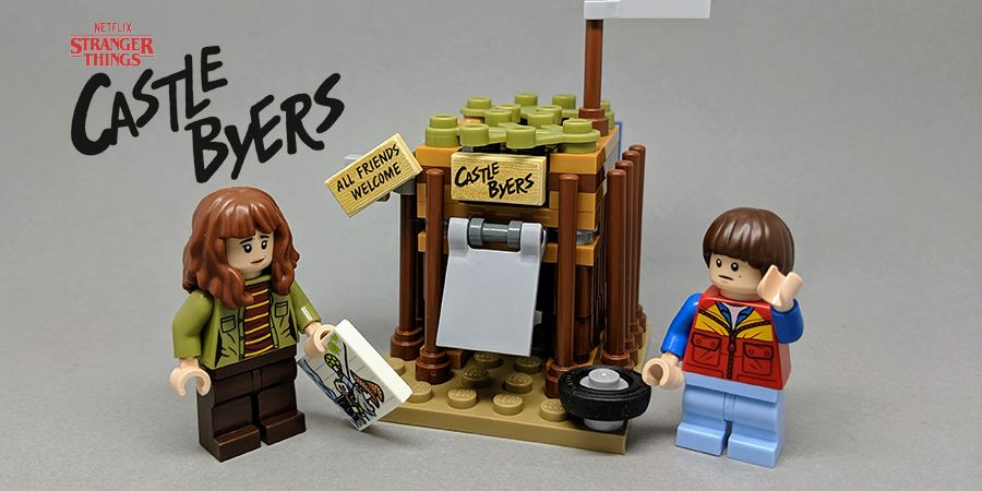 Stranger Things Castle Byers built with Lego Bricks – Limited Edition