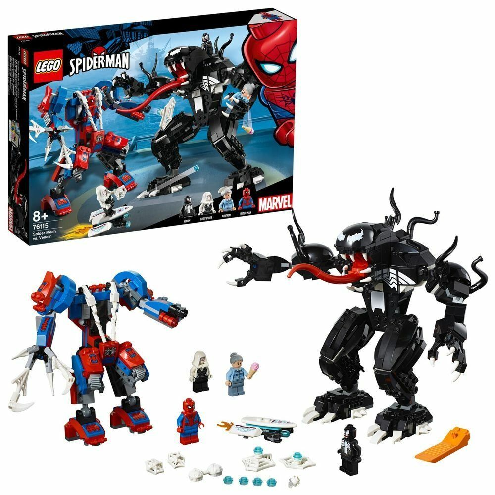 LEGO Superhero Spider-Man Spider Mech Fight Playset – 76115