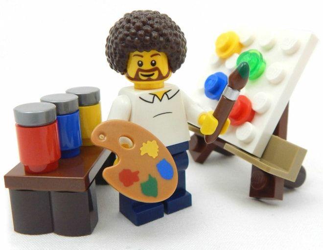"""Details about NEW LEGO """"PUBLIC T.V. ARTIST"""" MINIFIG afro figure minifigure paint painter"""