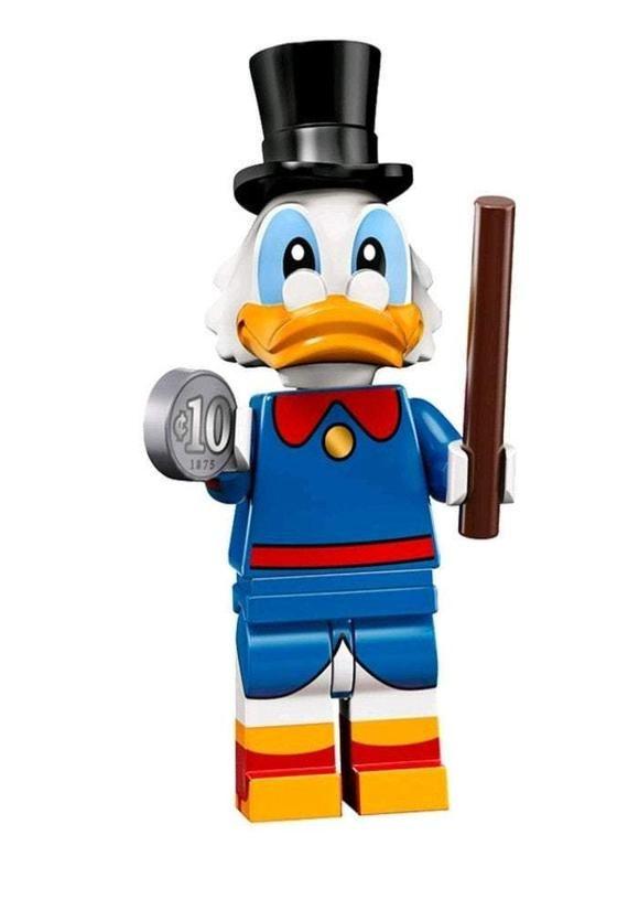 Scrooge McDuck Custom minifigure .  Brand new in package.  Please visit shop, lots more!