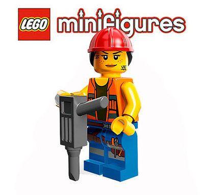 LEGO® Minifiguren 71004 LEGO® Movie – Bauarbeiter Gail  | eBay