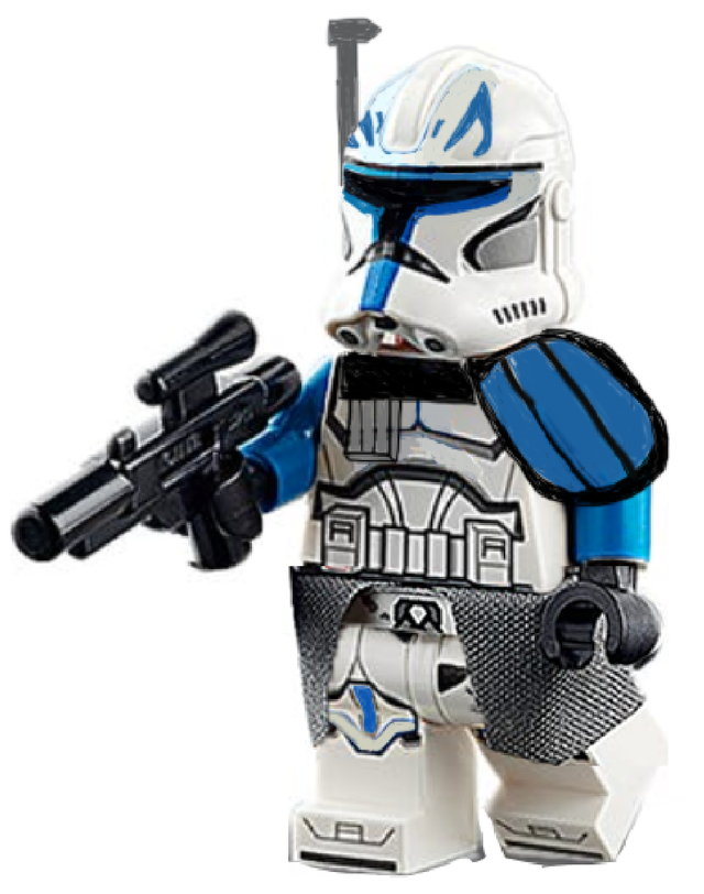 A photoshopped moc-up I made of Captain Rex! Enjoy!